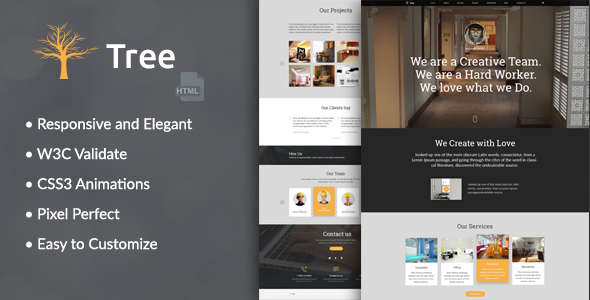 Tree - Interior Design, Architecture Business HTML Template - Corporate Site Templates