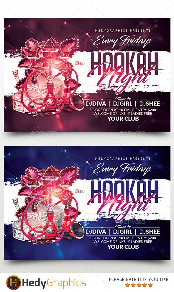 Hookah Night Flyer - Events Flyers