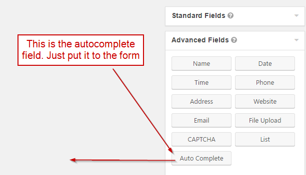 Gravity Forms Autocomplete (+ address field)