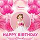Pink Kids Birthday Invitation - GraphicRiver Item for Sale