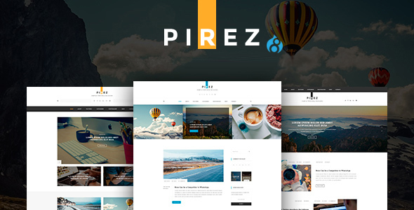 PIREZ – Blogging Drupal 8 Theme