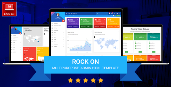 RockOn materialize responsive HTML admin template
