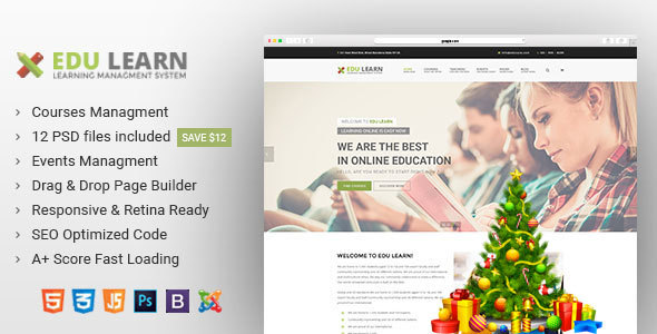 EduLearn - Education, School & Courses Joomla Template