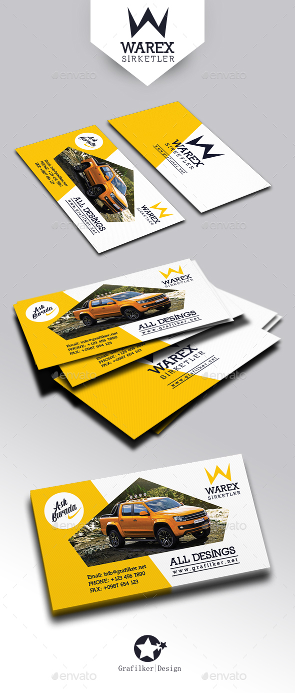 Automobile Introduction Business Card Templates - Corporate Business Cards
