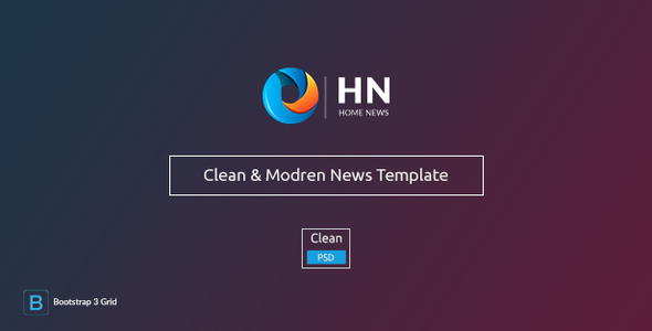 Home News – News & Blog PSD Template