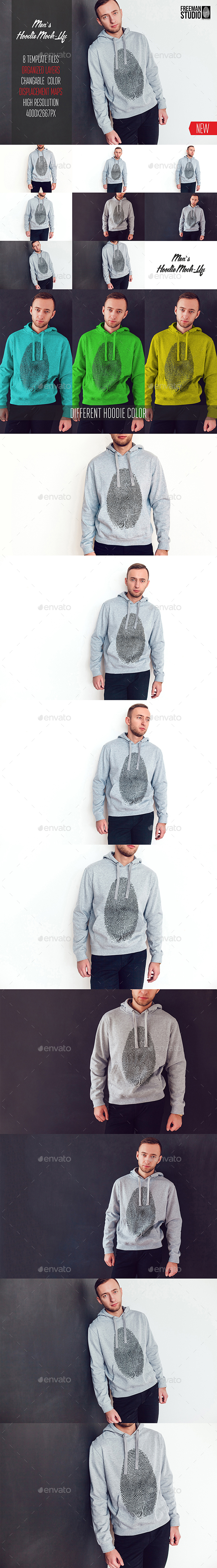 Men's Hoodie Mock-Up - Graphics