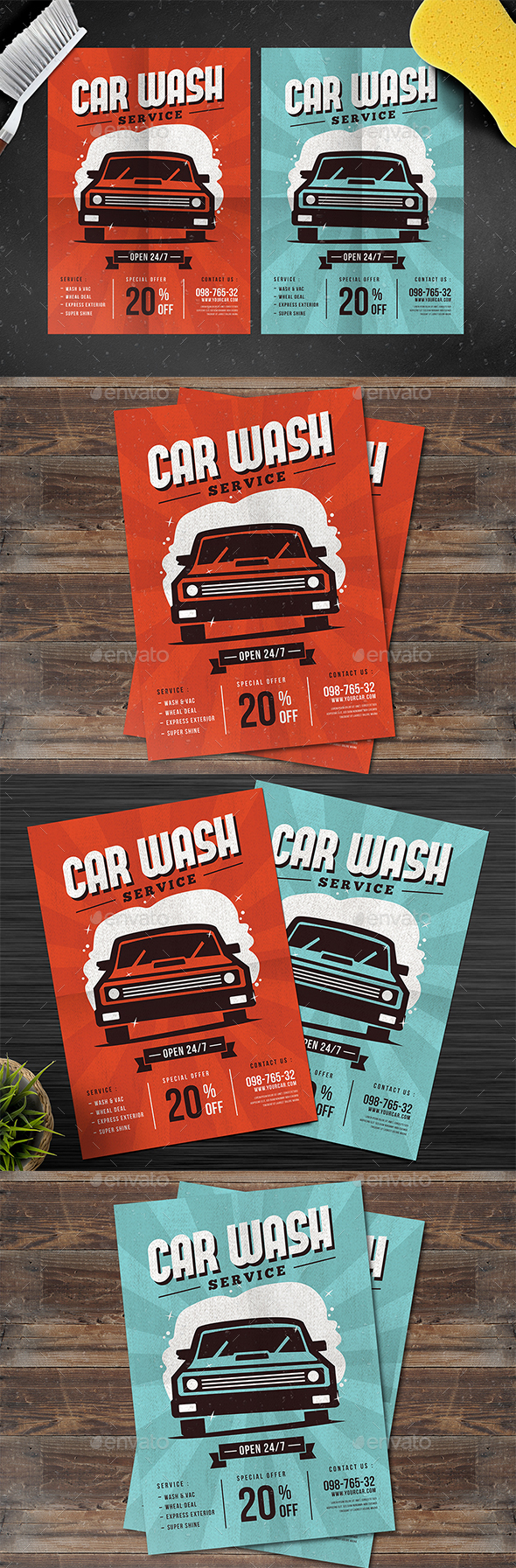 Car Wash Service Flyer - Events Flyers