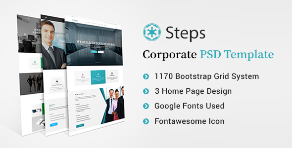 Steps – Modern Corporate PSD Template
