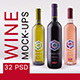 Wine mockup pack - GraphicRiver Item for Sale