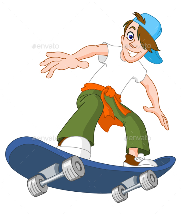 Skateboard Boy - People Characters