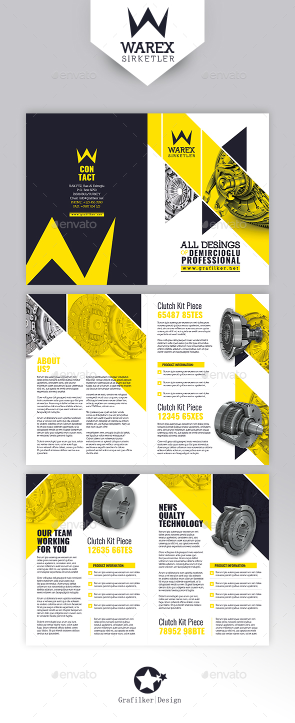 Technical Data Brochure Templates - Corporate Brochures