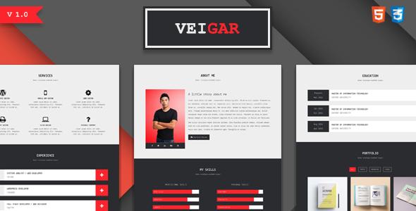Veigar – Personal Portfolio Template