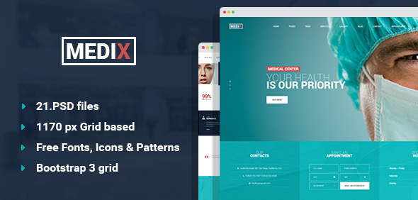 Medix – Medical Clinic PSD Template