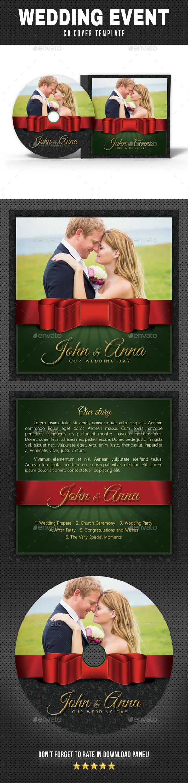 Wedding Event CD Cover v17 - CD & DVD Artwork Print Templates