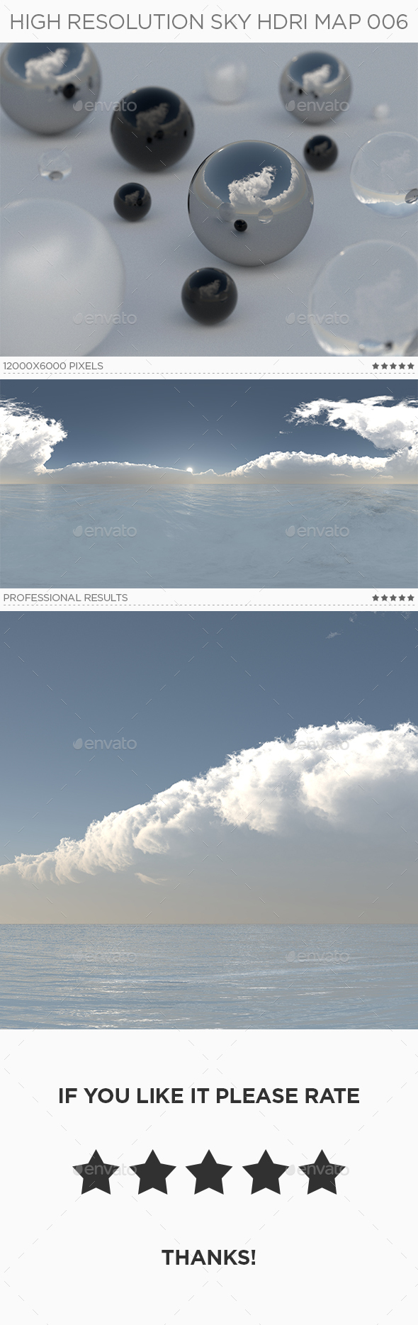 High Resolution sky HDRi Map 006 - 3DOcean Item for Sale