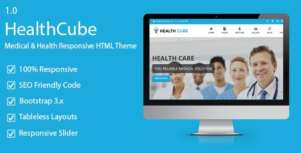 HealthCube – Health & Medical Responsive HTML Template
