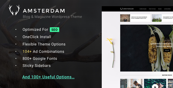 Amsterdam – Clean Blog & Magazine WordPress Theme