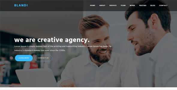 Blandi - Minimalist Onepage Agency HTML Template - Business Corporate