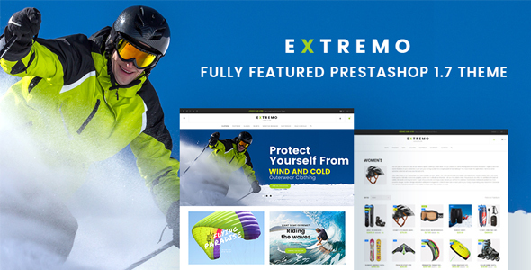 Extremo – Extreme Sports PrestaShop 1.7 Theme
