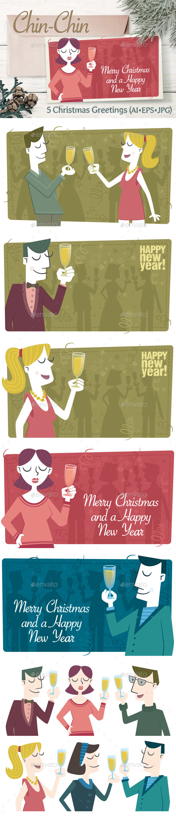 People Toasting - New Year Seasons/Holidays