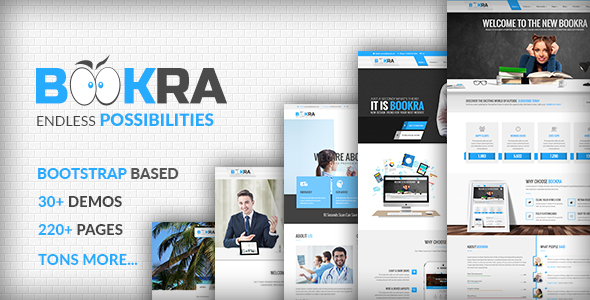 BOOKRA | Multi-Purpose HTML5 Template - Corporate Site Templates