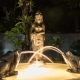 Small Magic Garden Fountain. Night Scene. The Water Comes From the Jug in Woman Hands, Frogs. Asian - VideoHive Item for Sale