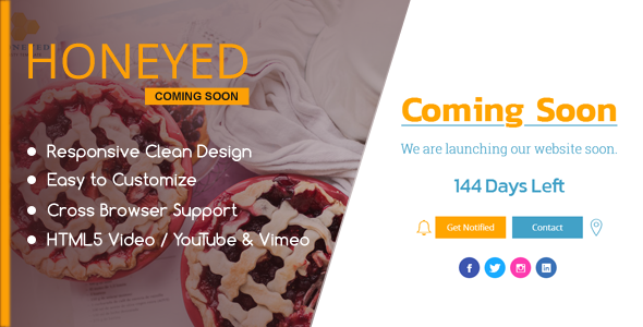 HONEYED – Simple Vimeo & YouTube Video Background Page