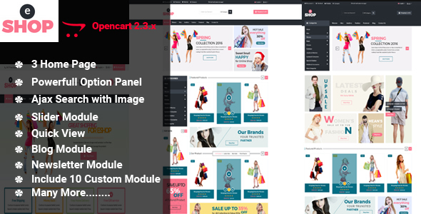eShop-Multipurpose OpenCart Template - Shopping OpenCart
