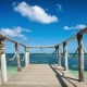 Wood Bridge on the Beach Near the Ocean - VideoHive Item for Sale