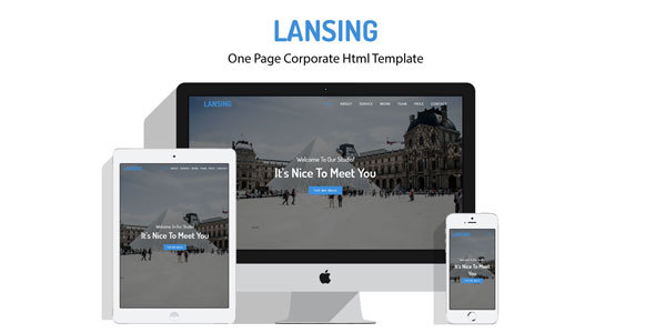 Lansing – One Page Corporate Html Template