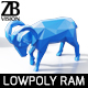 Lowpoly Ram Sheep - 3DOcean Item for Sale