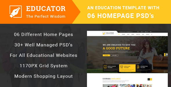 Educator – Education Multipurpose PSD Template