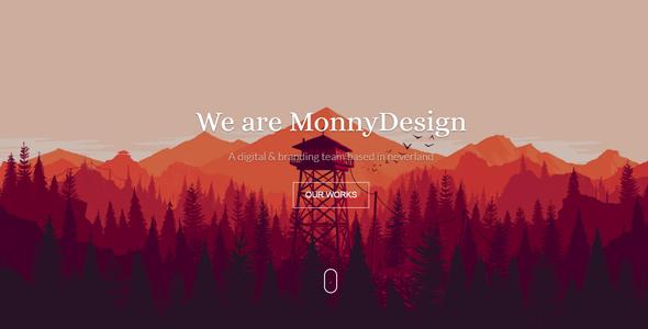 Monny Waves – Modern Parallx HTML Site Template