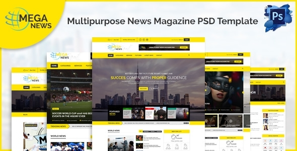 Mega News – Multipurpose News Magazine PSD Template