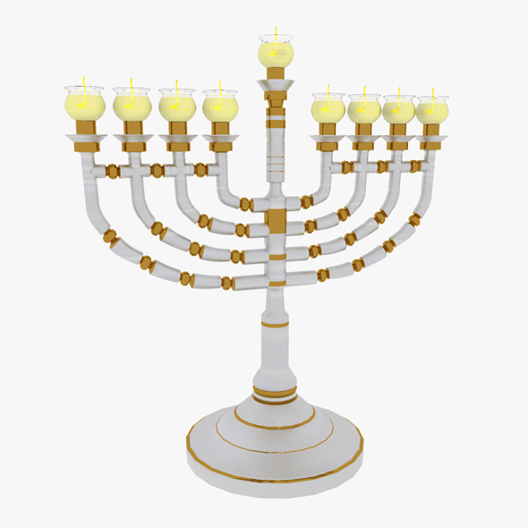 Menorah Hanukkah - 3DOcean Item for Sale