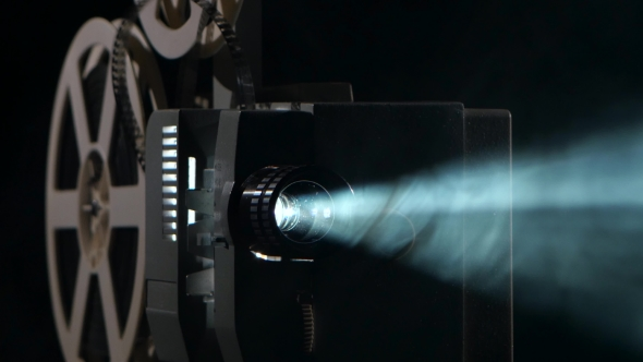 of a Vintage Movie Projector. Projection Rays by KinoMaster | VideoHive