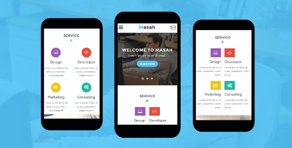 Masah - Multipurpose Mobile Template - Mobile Site Templates