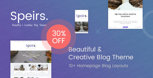 Speirs – Beautiful and Creative WordPress Blog Theme