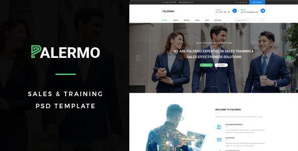 Palermo : Sales & Training PSD Template