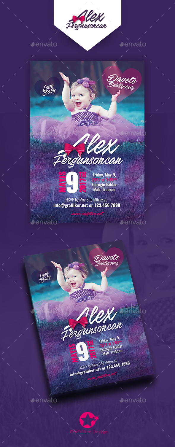 Baby Event Postcard Templates - Cards & Invites Print Templates