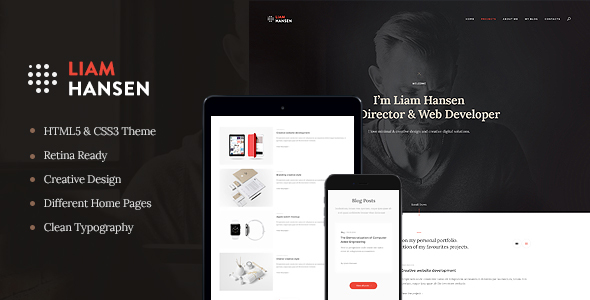 Liam – HTML Creative Freelancers & Agency Template