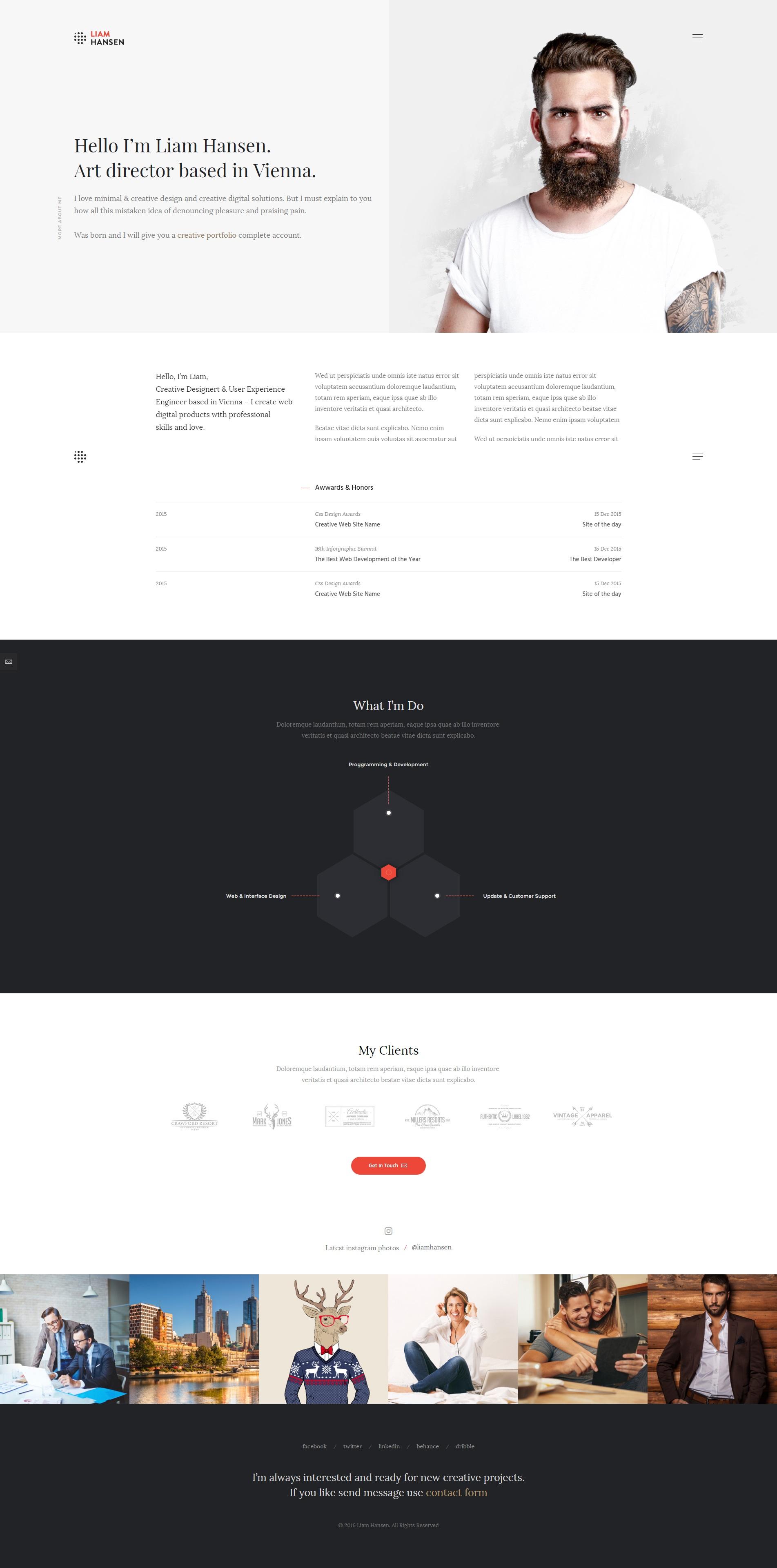 Liam - HTML Creative Freelancers & Agency Template by WebLionMedia