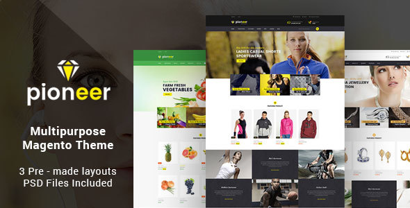 Pioneer – Multipurpose Responsive Magento2 Theme | Fashion Sportswear Food & Jewellery
