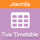 Tiva Timetable For Joomla