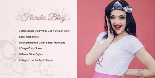 Florales Personal Blog HTML Template