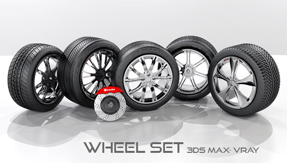 3D Wheel set - 3DOcean Item for Sale