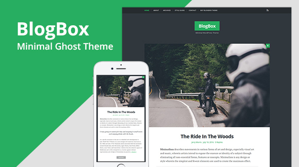 BlogBox – Responsive & Bold Ghost Theme