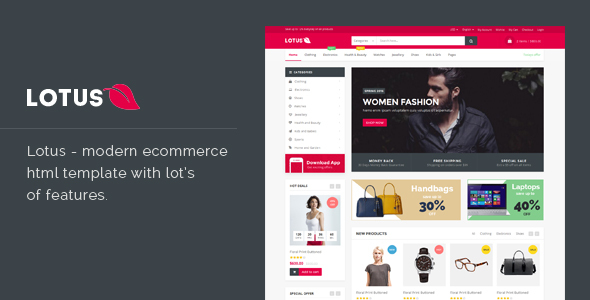 Lotus – Responsive Ecommerce Template