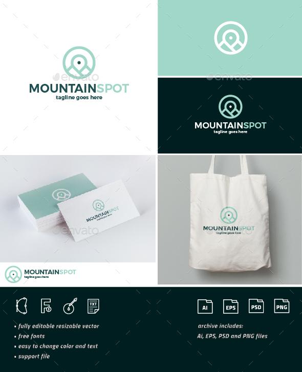 Mountain Spot Logo - Nature Logo Templates