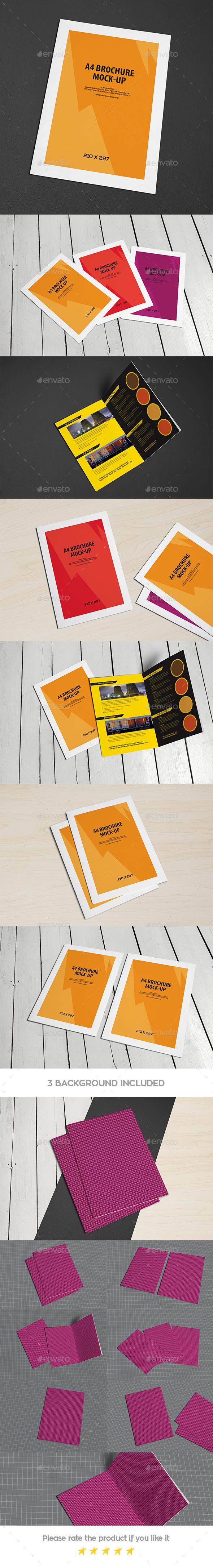 Bi-Fold A4 Brochure Leaflet Mock-Up - Brochures Print